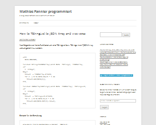 begin end - Mathias Pannier programmiert