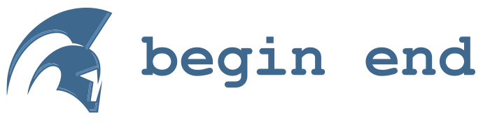 begin end logo